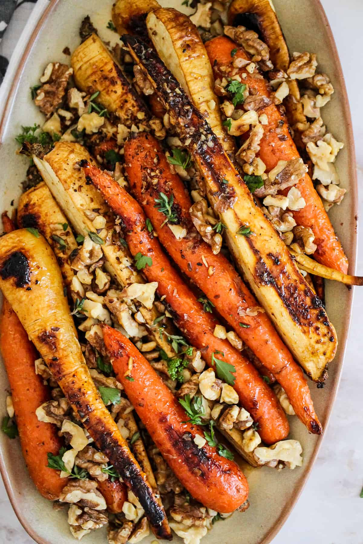 Honey Roasted Carrots And Parsnips Grateful Grazer